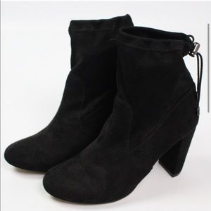 Express Faux Suede Ankle Boots